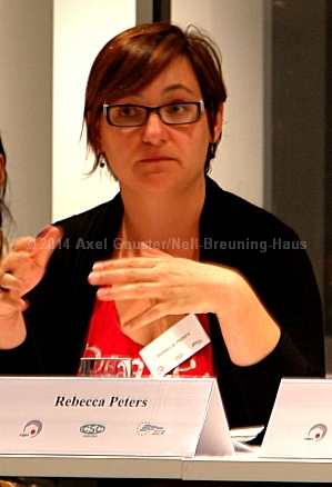 Rebecca Peters (Gewerkschaft Confédération des Syndicats Chrétiens CSC. Verviers und Eupen,  Belgien)